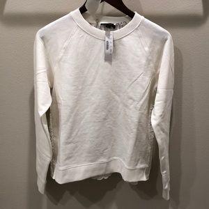 🆕NWT J. Crew XS Ivory Eyelet Sweatshirt